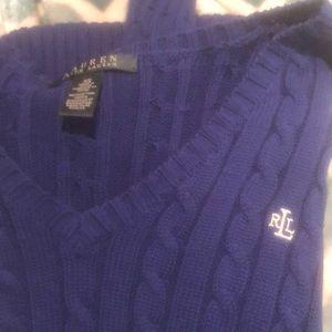 Ralf Lauren blue knit sweater